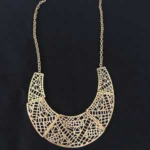 Beautiful Gold Costume Necklace